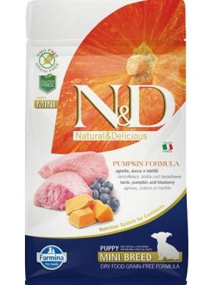 N&D Grain Free Dog Puppy Mini Pumpkin Lamb & Blueb 800 g