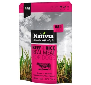 Nativia Dog Real Meat Beef & Rice 1 kg