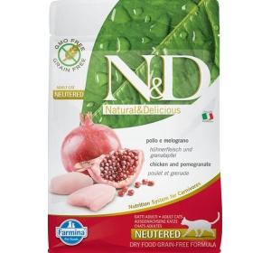 N&D Grain Free CAT Neutered Chicken&Pomegranate 300g