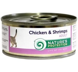 Nature's Protection Cat konzerva Chicken&Shrimps 100 g
