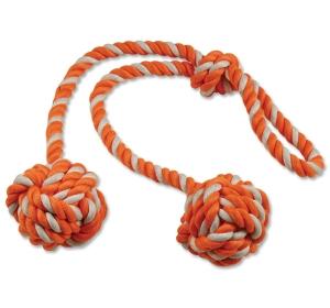 Přetahovadlo DOG FANTASY kliklak oranžovo-bílé 50cm