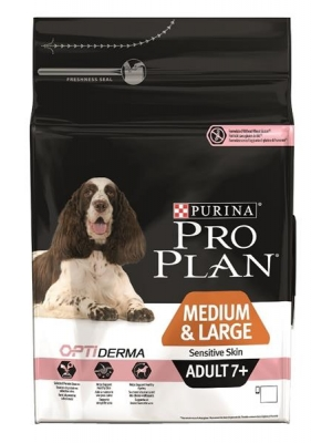 Purina PRO PLAN Dog Adult Medium&Large 7+ Sens.Skin 3 kg