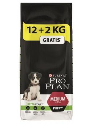 Purina Pro Plan Puppy Medium 12+2 kg zdarma