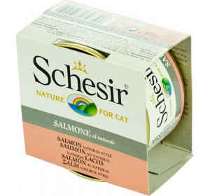 Schesir cat konz. Natural Brine - losos 85 g