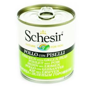 Schesir dog konz. kuře se zeleným hráškem 285 g