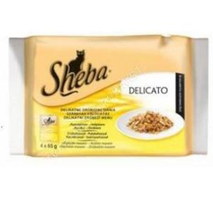 Sheba kaps. - DELICATO drůb. menu v želé Multipack 4 x 85 g