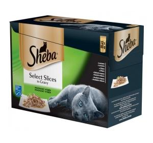 Sheba kapsa Slices in Gravy Mix výběr 12pack