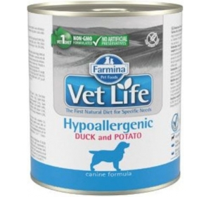 Vet Life Natural Dog konz. Hypoaller Duck&Potato 300g