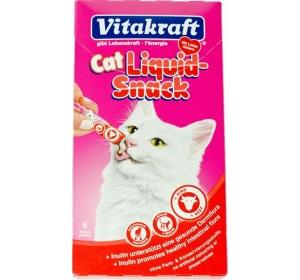 Vitakraft snack cat Liguid  hovězí + inulin 6 x 15 g