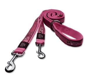 Vodítko ROGZ Fancy Dress Pink Bones přepínací XL