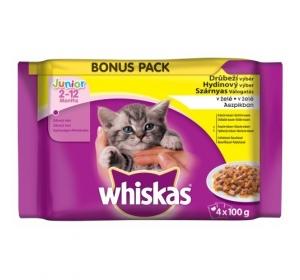Whiskas kaps. Junior - drůbeží výběr v želé 4 x 100 g
