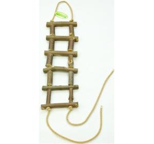 Žebřík dřevěný přírodní slabší 40 cm