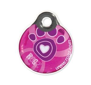 Známka ROGZ ID Tagz Pink Paw S