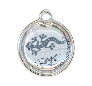 Známka ROGZ Metal Silver Gecko kovová S