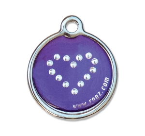 Známka ROGZ Purple Chrome kovová L